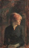 Портрет Кармен Годен.  Дерево, масло. 23,8х14,9см. 1885