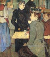 Уголок в «Мулен де Галетт».  Картон, наклееный на дерево, масло. 100,3х89,1см. 1892