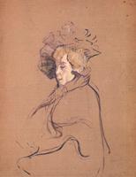 Портрет. Джейн Авриль.  Картон, наклееный на дерево, масло. 67,8х52,9см. 1892