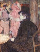 Максим Детома на балу в опере.  Картон, гуашь. 67,3х52,7см. 1896