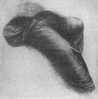 11. Леонардо да Винчи. Рисунок драпировок