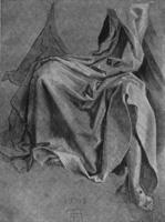12. А. Дюрер. Рисунок драпировок