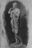 13. И. Е. Репин. Рисунок гипсовой задрапированной фигуры