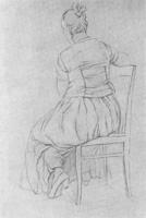 15. Линейный рисунок одетой фигуры