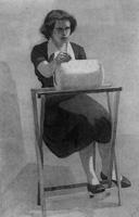 16. Декоративный рисунок фигуры человека. Отмывка