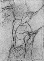 22. К. Брюллов. Линейный рисунок фигуры по представлению
