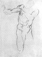 23. Микеланджело. Линейный набросок