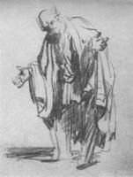 25. Рембрандт. Набросок карандашем