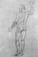 2. упражнение в линейном рисовании живой модели