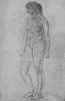 4. упражнение в линейном рисовании живой модели