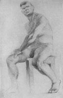 6. Длительный учебный рисунок сидящей живой модели