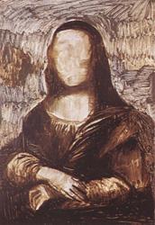 10. Закрашиваем небо. Портрет - Мона Лиза (Джоконда). Леонардо да Винчи