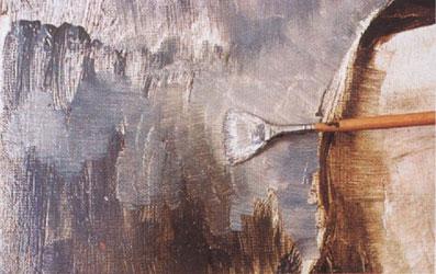11-1. Заполните фон. Портрет - Мона Лиза (Джоконда). Леонардо да Винчи