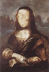 11. Заполните фон. Портрет - Мона Лиза (Джоконда). Леонардо да Винчи