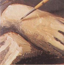 15-2. Высветляем складки одежды и цвет кожи. Портрет - Мона Лиза (Джоконда). Леонардо да Винчи