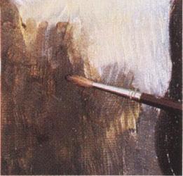 18-1. Применение лазурной краски. Портрет - Мона Лиза (Джоконда). Леонардо да Винчи