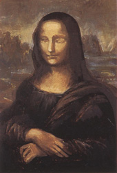 21. Тень нижней челюсти. Портрет - Мона Лиза (Джоконда). Леонардо да Винчи