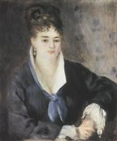Портрет дамы в черном. Холст, масло. 63х53 см. 1876