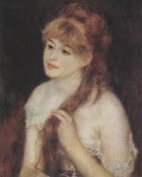 Портрет причесывающейся девушки. Холст, масло. 55,6х46,4 см. 1876