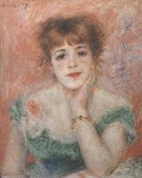 Портрет актрисы Жанны Самари. Холст, масло. 56-47 см. 1877-1878