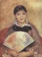 Портрет девушки с веером. Холст, масло. 65-50 см. 1881