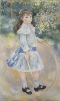 Портрет девушки с обручом. Холст, масло.125,7-76,6 см. 1885