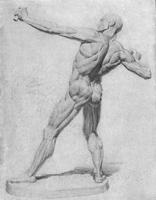 3. Законченный рисунок экорше фигуры человека