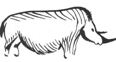 4. Носорог. Наскальное изображение. Палеолит