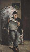 Потрет отца художника, читающего газету. 1866. Холст, масло. 198,5х119,3см