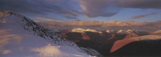 Фотографии Колина Прайора. Вид с горы Бен-Старат. Шотландия