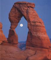 Фотографии Дэвида Мюнча. Восход луны над Хрупкой аркой. Национальный парк «Арки», Юта, США