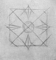 10. Начало рисунка розетки