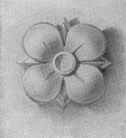 11. Четырехлепестковая розетка. Учебный рисунок