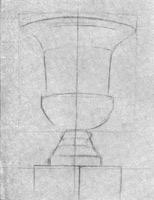 17. Декоративная ваза. 1-я стадия рисунка