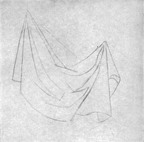 17. Складки ткани. Подготовительный рисунок