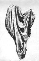 16. Складки ткани. Рисунок пером