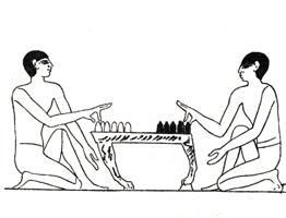 Рисунок линии 1. Игра в шашки. Древний Египет. Прорись