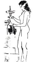 Рисунок линии 2. Роспись белого лекифа. V в. до и. э. Греция Прорись