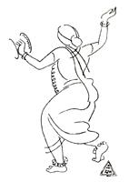 Рисунок линии 3. К. К. Хеббар. Рисунок. Перо