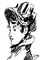 Рисунок 13. Э. Мане. Портрет госпожи Гильоме. Карандаш
