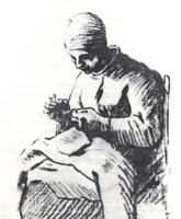 Рисунок 14. Ф. Милле. Набросок. Угольный карандаш