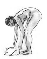 Рисунок 15. В. Серов. Набросок женской обнаженной фигуры. Карандаш