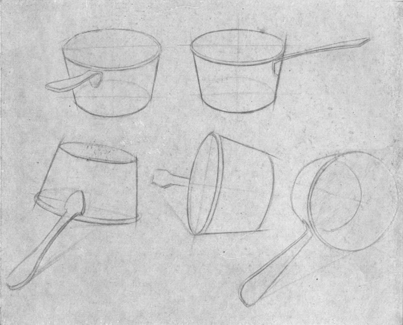 Рисунки посуд из карандаша