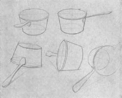 14. Рисунок кастрюли в разных поворотах