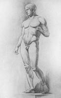 4. 4-я стадия рисунка гипсовой фигуры («Дорифора» Поликлета)
