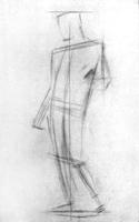 1. 1-я стадия рисунка гипсовой фигуры («Дорифора» Поликлета)