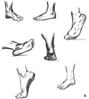 4. Упражнения в набросках: с обнаженной стопы (со стороны пятки)