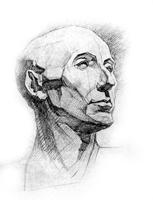 4. 4-я стадия рисунка гипсовой головы