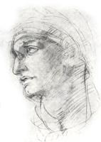 16. Микеланджело. Рисунок головы