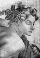 19. Микеланджело. Деталь росписи сикстинской капеллы
